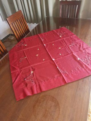 tapete mantel camino de mesa navideño