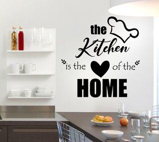 Vinilo La cocina es el corazón de la casa