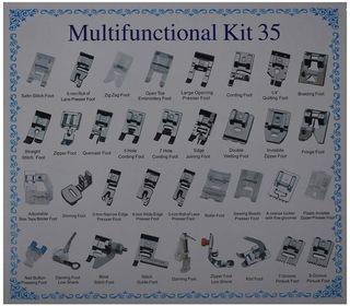 multifuncional kit para maquina coser