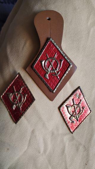 lote de 3 insignias militares de infantería