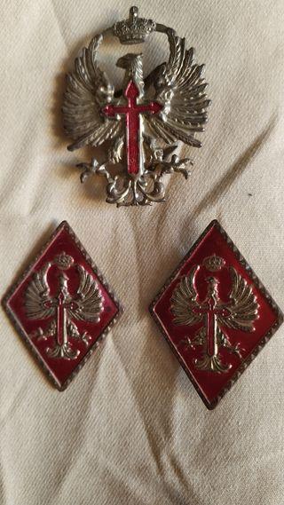 lote de 3 insignias militares