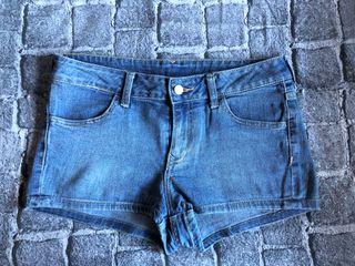 Shorts H&M Divided 40 Mujer Azul Medio Vaqueros