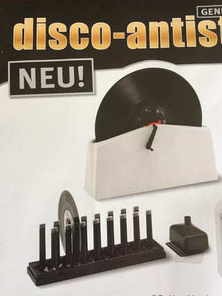 Maquina limpiadora de discos de vinilo