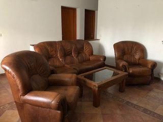 Conjunto de sofá de cuero