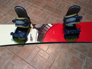 Tabla snow y fijaciones elan y funda.