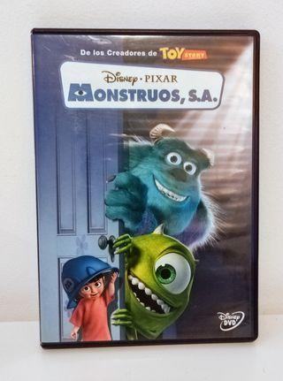 Monstruos S.A. de Pixar en DVD