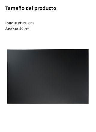 Panel de notas, pizarra magnética negra