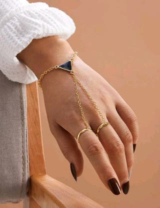 Brand new ring bracelet in black