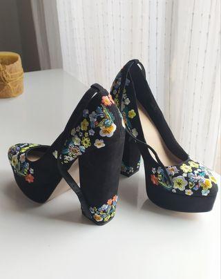 Zapatos de tacón, negro, mujer. Talla 35