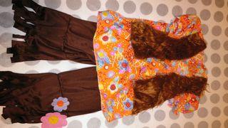 disfraz hippie niña 5 años