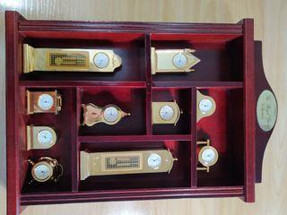 Colección relojes miniatura