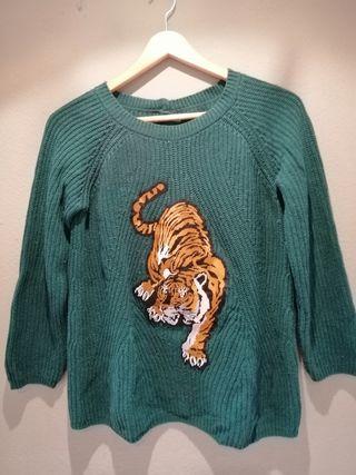 jersey manga larga tigre verde