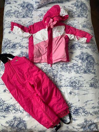 Peto y Anorak ski Decathlon Rosa talla 3