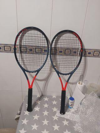 pareja raquetas head graphene 360 radical mp