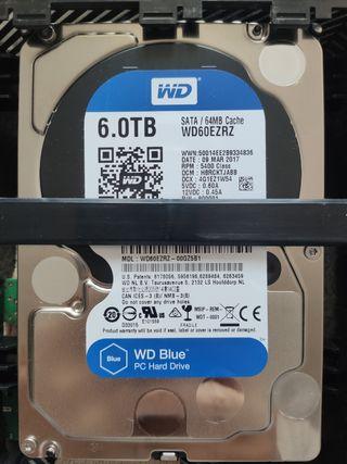 Cambio 2 discos duro(9tb) por 1 disco duro 8TB