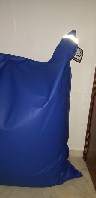 HAPPERS Big Puff Gigante Polipiel Indoor Azul