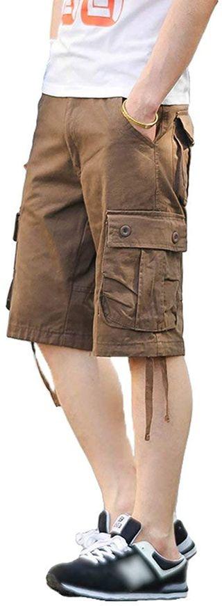 BOLAWOO 77 Hombres Pantalones Cortos Aire De