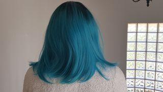 Peluca Negro/Azul Ombre