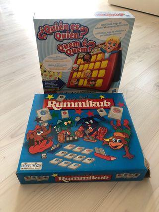 Juegos de mesa niños Quien es quien y Rummikub