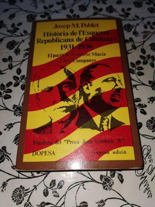 història de l' esquerra republicana de catalunya