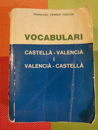Diccionario castellano-valenciano.