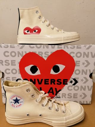 Converse x Play CDG Chuck Taylor 70 High White