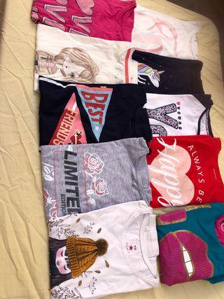 Lote 10 camisetas, 12€