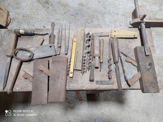 herramientas carpintero antiguas