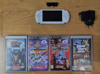 PSP 3000 + PACK DE JUEGOS