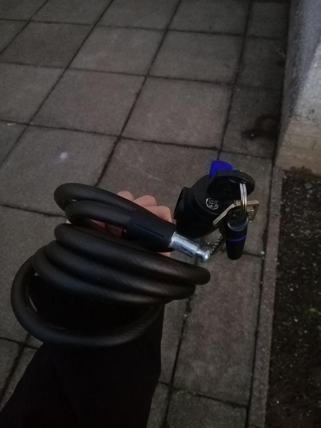 Woman Bike + Lock