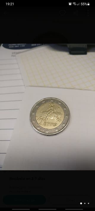 "moneda 2 euros eypo griega con ""s"""