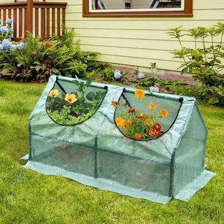 Invernadero caseta de tubo acero y plastico jardin