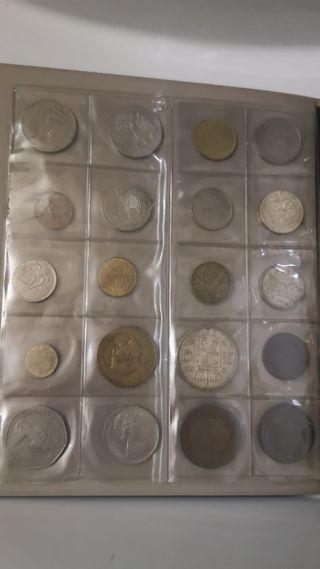 álbum de monedas antiguas