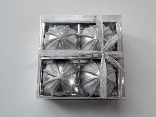 Pack 4 velas esfricas plateadas (NUEVAS) Velas esf