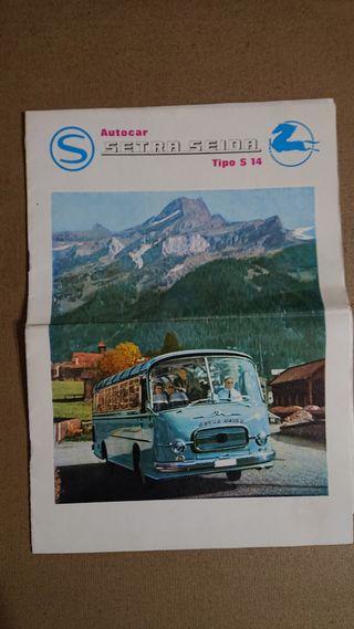 Folleto catálogo Autocar Setra Seida Tipo S14