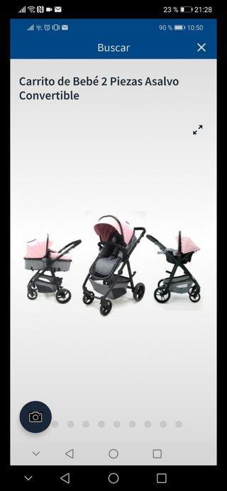 carrito baby asalvo 3 piezas