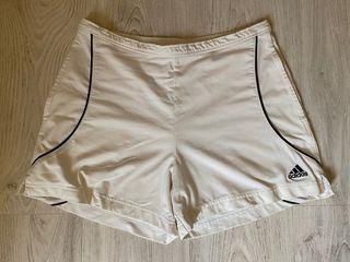 Shorts tennis mujer Adidas talla L blancos