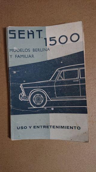 Catálogo Seat 1500 año 1966