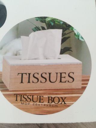 caja de pañuelos MDF