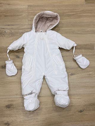 Buzo blanco bebe talla 1-3 meses Dulces