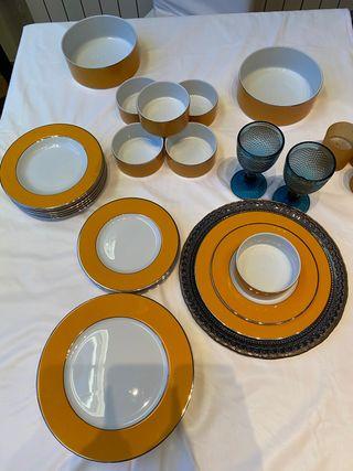 Vajilla Zara Home porcelana amarilla