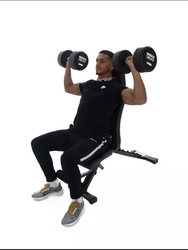 Max squad ajuistable gym bench