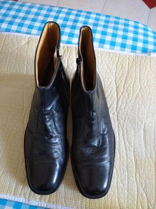 botas hombre piel