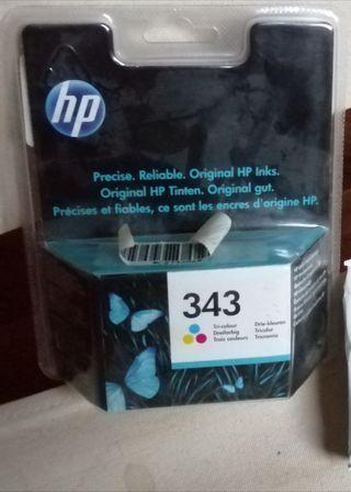 Cartucho de tinta para impresora hp 343 tricolor