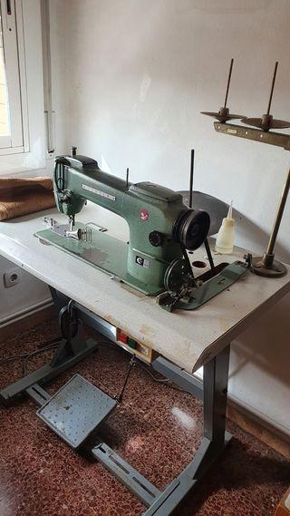 Máquina de coser industrial, doble arrastre