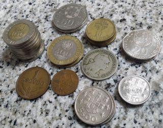 Lote 30 monedas antiguas de Portugal