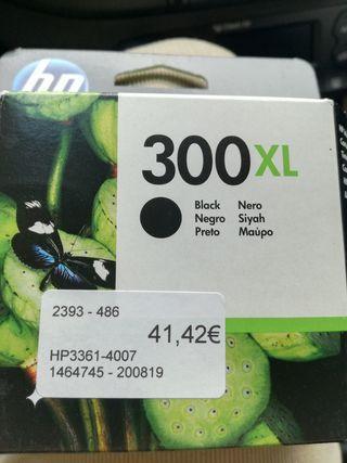 cartucho tinta HP 300xl negro original