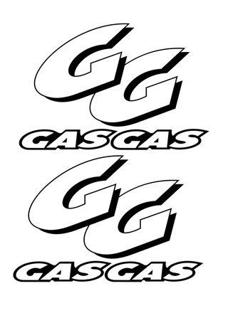 2 Pegatinas de vinilo Gas Gas, exterior e interior