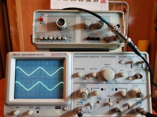 Osciloscopio Promax y generador funciones Promax