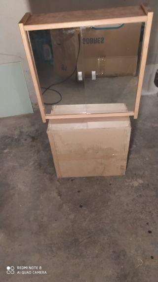 Armario rústico de cuarto de baño